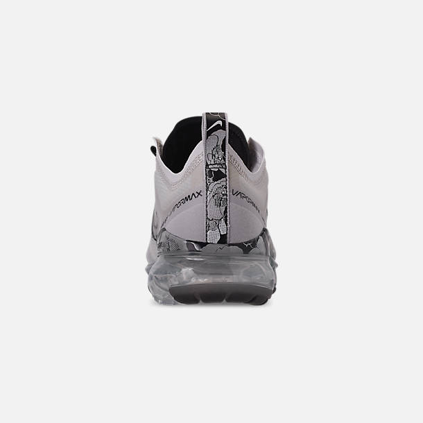 Back view of Women's Nike Air VaporMax 2019 SE Running Shoes in Vast Grey/Black/Metallic Silver