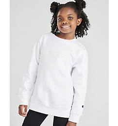 Kids' Champion Premium Fleece Script Logo Crewneck Sweatshirt