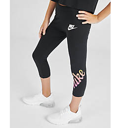 Girls' Nike Sportswear 3/4 Graphic Leggings