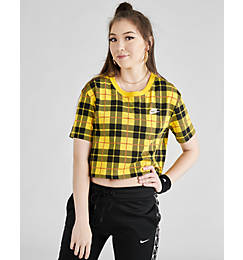 Women's Nike Sportswear Plaid Cropped T-Shirt