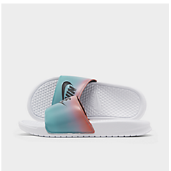 Men's Nike Benassi JDI Print Gradient Slide Sandals