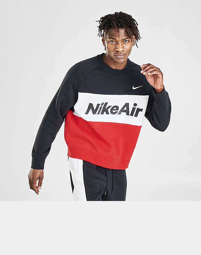 Men's Nike Air Colorblock Fleece Crewneck Sweatshirt