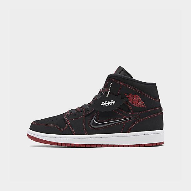 Men's Air Jordan Retro 1 Mid Fearless Casual Shoes