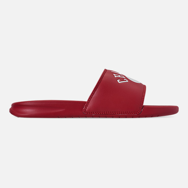 Right view of Men's Champion Non C-Life Slide Sandals in Red/White