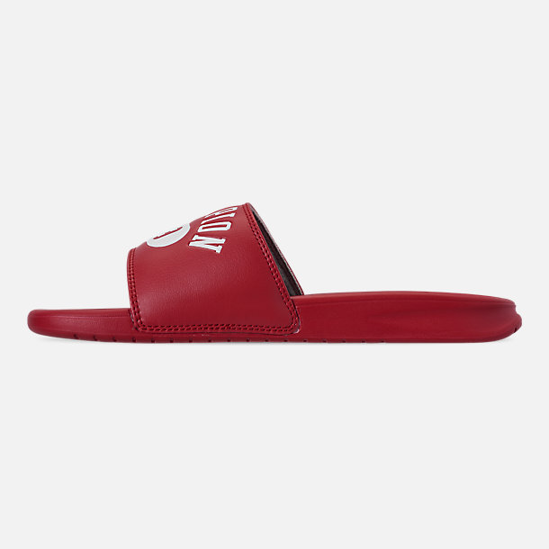 Left view of Men's Champion Non C-Life Slide Sandals in Red/White