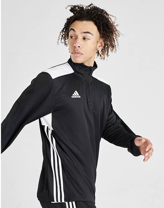 Front view of Men's adidas Regista 18 Training Top in Black/White