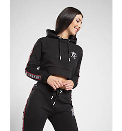 Women's Gym King Tape Crop Hoodie