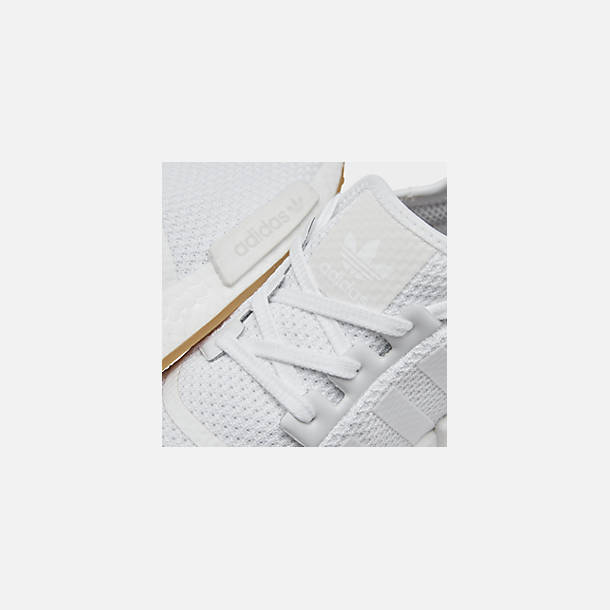 Front view of Men's adidas NMD Runner R1 Casual Shoes in Footwear White/Footwear White