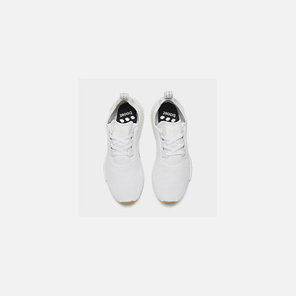 Back view of Men's adidas NMD Runner R1 Casual Shoes in Footwear White/Footwear White
