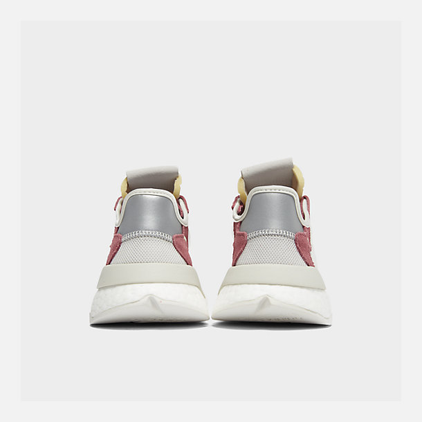 official photos 6098b d4cc9 Left view of Women s adidas Originals Nite Jogger Casual Shoes in  White White Pink