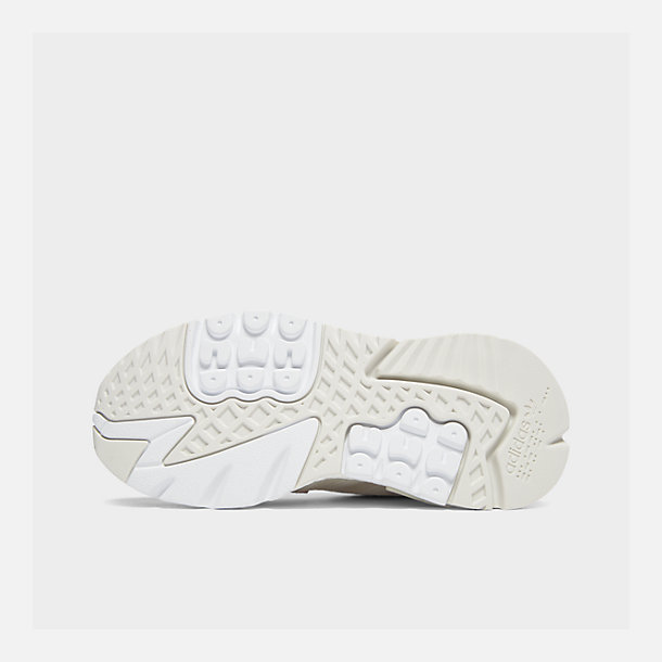 buy popular d5278 29a29 Bottom view of Women s adidas Originals Nite Jogger Casual Shoes in  White White Pink