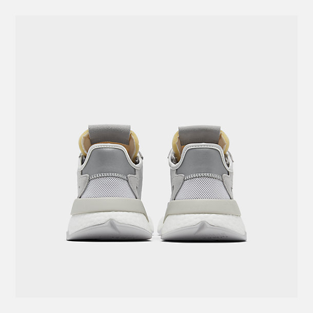 Left view of Women's adidas Originals Nite Jogger Casual Shoes in Grey/White/Grey