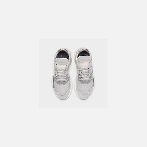 Back view of Women's adidas Originals Nite Jogger Casual Shoes in Grey/White/Grey