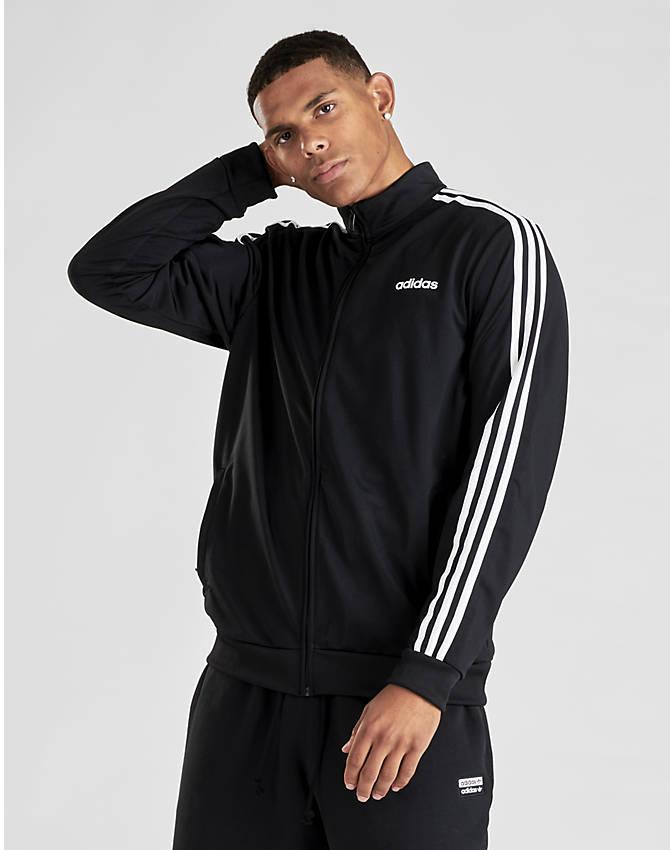 018b6f20884f Men's adidas Essentials 3-Stripes Tricot Track Jacket