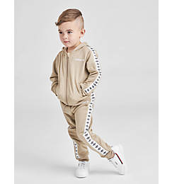 Kids' Infant and Toddler adidas Originals Tape Poly Full-Zip Hoodie and Jogger Set