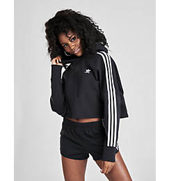 Women's adidas Originals 3-Stripes Cropped Hoodie