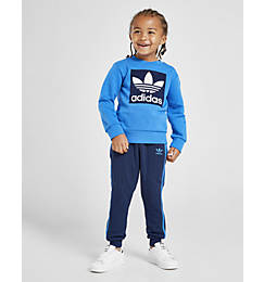 Boys' Infant and Toddler adidas Originals Trefoil Crewneck Sweatshirt and Jogger Pants Set