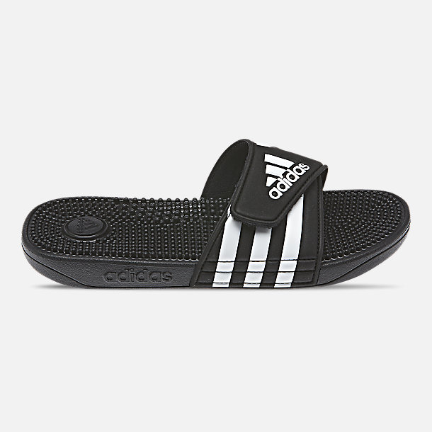Right view of Big Kids' adidas Adissage Slide Sandals in Core Black/Cloud White/Core Black