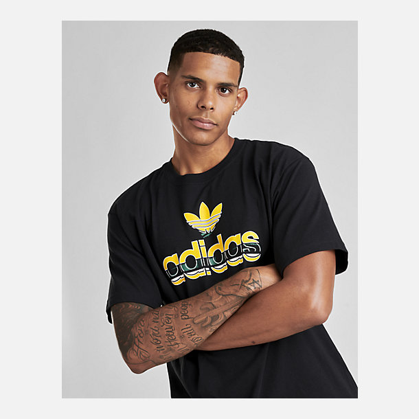 Floor Price Men Adidas Originals Premium Trefoil T Shirt