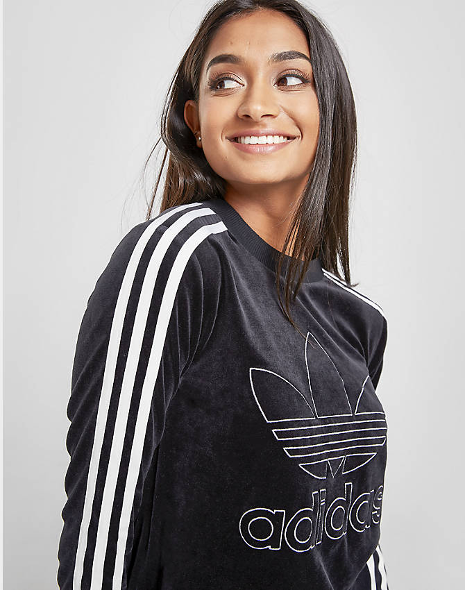 Adidas Originals Womens Velvet Sweatshirt
