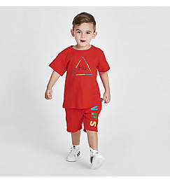 Toddler and Little Kids' adidas Originals x Pharrell Williams TBIITD T-Shirt and Shorts Set