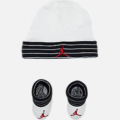 Infant Jordan Jumpman Striped Hat and Bootie Set