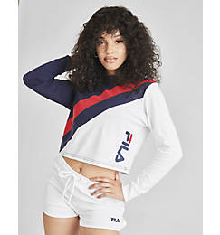 Women's Fila Akeya Long-Sleeve Crop T-Shirt