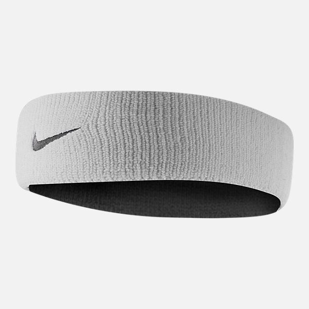 Front view of Unisex Nike Dri-FIT Headband 2.0 in White/Black
