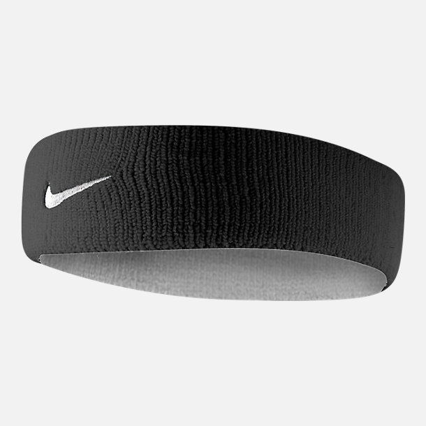 Back view of Unisex Nike Dri-FIT Headband 2.0 in White/Black