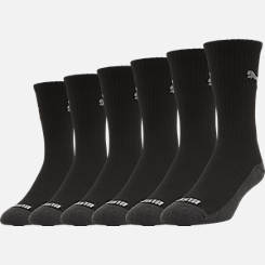 Men's Puma 1/2 Terry 6-Pack Crew Socks