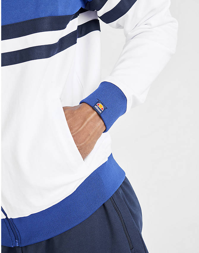 On Model 5 view of Men's Ellesse Rimini Full-Zip Track Jacket in Blue