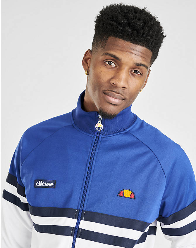 On Model 6 view of Men's Ellesse Rimini Full-Zip Track Jacket in Blue