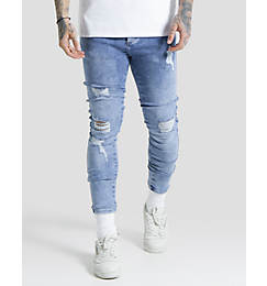 Men's SikSilk Low Rise Distressed Jeans