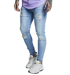 Men's SikSilk Distressed Jeans