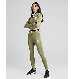 Women's SikSilk Tape Waist Poly Jogger Pants
