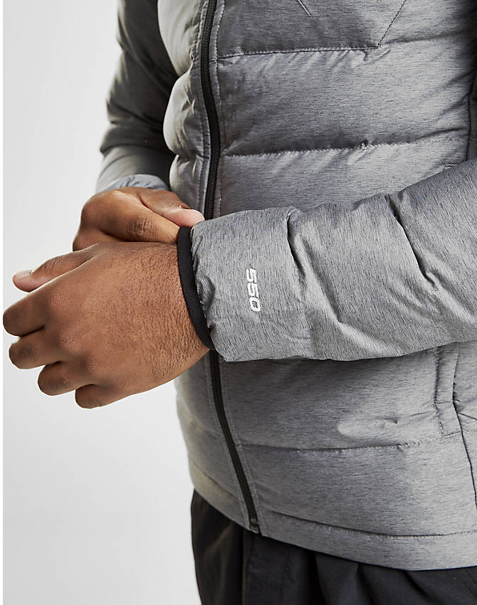 Back Right view of Men's The North Face Aconcagua Jacket in Silver