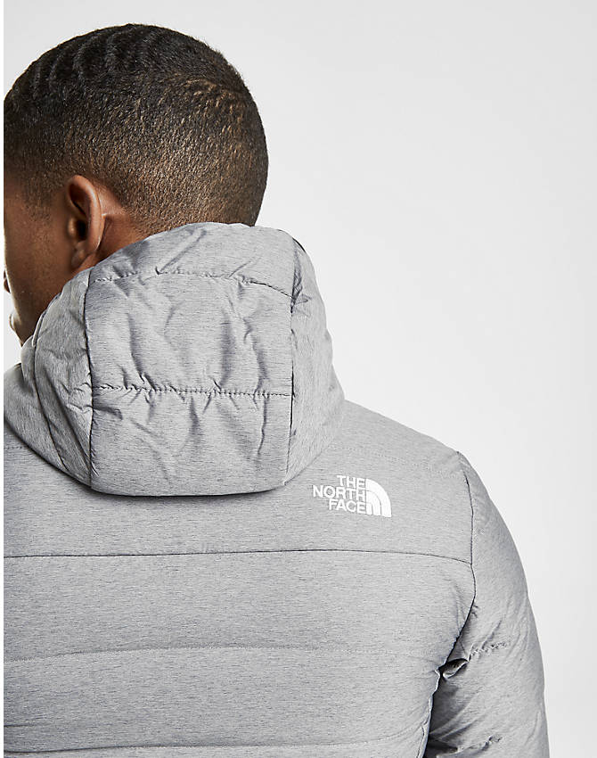On Model 5 view of Men's The North Face Aconcagua Jacket in Silver