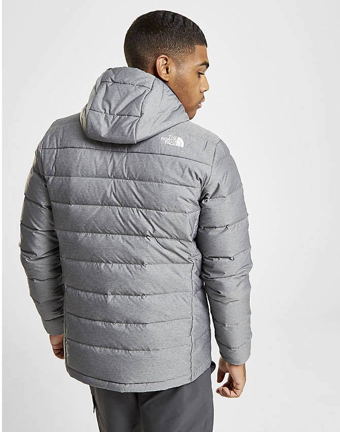 On Model 6 view of Men's The North Face Aconcagua Jacket in Silver