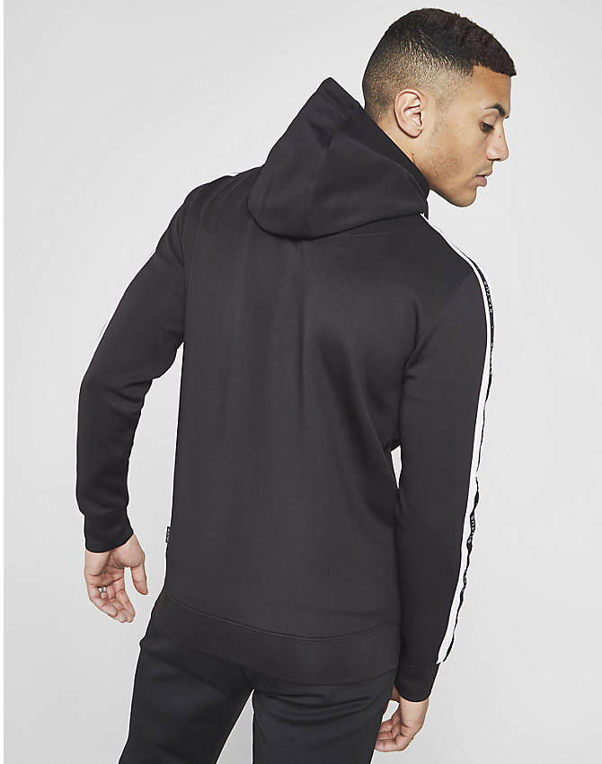 On Model 5 view of Men's Status Mason Full-Zip Hoodie in Black