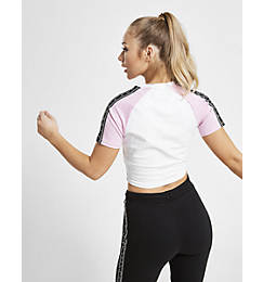 Women's Pink Soda Sport Riley Panel Tape T-Shirt