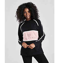 Women's Pink Soda Sport Cala Panel Crewneck Sweatshirt